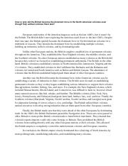 APUSH 2.1 Outline - ,political, regions Thesis The three ...