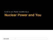 Nuclear Power and You