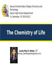 Chapter 5 Chemistry of Life