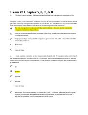 EXAM 2---CHAPTERS 5 THROUGH 8---ACTG 401.docx