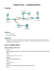 7.3.1.8 Packet Tracer - Configuring RIPv2 Instructions