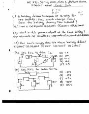 Power Output of a Circuit Exam