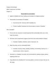 employment law chapter 10 notes