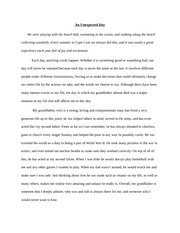 World Literature An Unexpected Day Essay