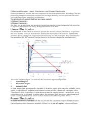 Difference Between Linear Electronics and Power Electronics.docx