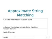 JustinWiseman-Approximate String Matching