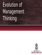 Chapter 2 - Evolution of Management Thinking (1)