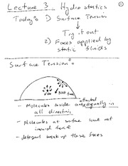 Lecture 03 Notes Surface Tension (1)