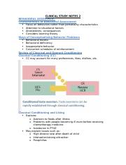 CLINICAL STUDY NOTES 2