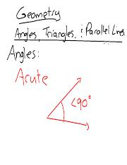 01 angles, triangles and parallel lines