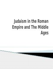 RST 101 Judaism In The Middle Ages