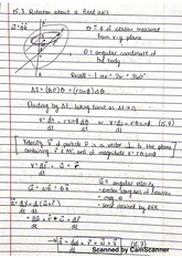 Chapter 15 Notes- Kinematics of Rigid Bodies