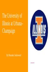 The University of Illinois at Urbana–Champaign