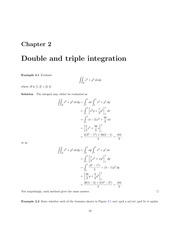 Double and Triple Integration Lecture Solutions