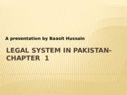 Chapter 1-Legal system in Pakistan