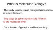 Lecture 1_ Genomic DNA