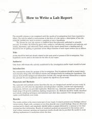 How to Write A Lab Report & Basic Stats