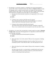 Ch. 9 - Exercise Assignment 7 - - Solution