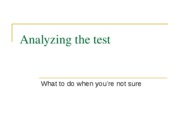 Analyzing the test. when to guess, ed sp 09