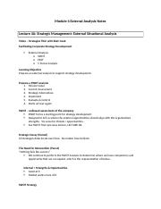 Module 4 Study Guide Notes for Strategy Management.docx