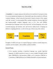 intro to translator