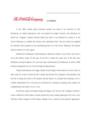 The Coca Cola Company History