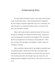 Embarrassing Story