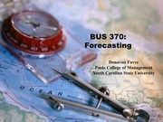 Forecasting - Lecture