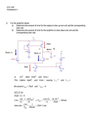 ECE 407 Homework 4 With Solutions
