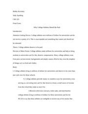 CRS 325 Persuasive Outline Final