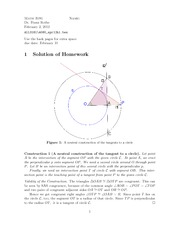 Homework A Solutions on Geometry
