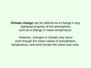 Chapter 8- Climate Changes