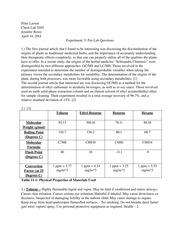 exp 10 prelab Experiment #10: analysis of vinegar 10 .