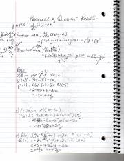 Basic Calculus- Notes on Product and Quotient rules- Summer 2015- Ms. Remus