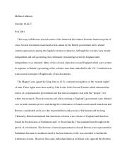 This essay will discuss several causes of the American Revolution from the American point of view.do