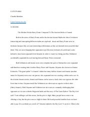 myth essay proposal
