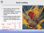 Axial Loading Notes