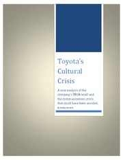 Toyota case study review