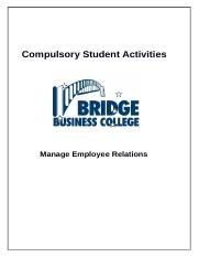 CSA BSBWRK510 Manage Employee Relationships.docx