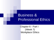 Workplace Ethics_Week 7