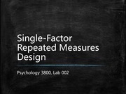 Lab 4 notes - Single factor repeated measures
