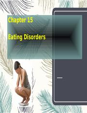 Chapter 15 Eating Disorders