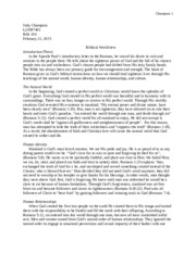 Essay Biblical Worldview