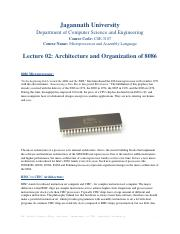 Lecture 02 Architecture and Organization of 8086.pdf