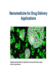 Lecture 15-Drug Delivery Introduction