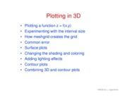 16. Plotting in 3D