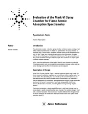 Evaluation of the Mark-VI Spraychamber