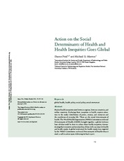 Friel & Marmot- Social determinants of health & health inequities goes global 2011