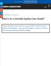 Growth Equity Case Study Guide and Example Solution.pdf