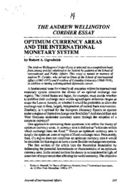 General Essay on Optimum currency areas